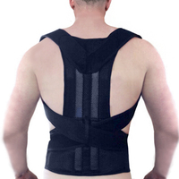 Orthopedic Back Lumbar Support XXL Plus Size For Men Women Posture Corrector Health Care Waist Spine Protection Brace Pain B003