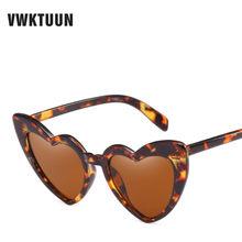 VWKTUUN Óculos De Sol-mulheres Óculos de Coração óculos de Sol Das Mulheres Do Vintage Retro Feminino Óculos De Sol Do Esporte Ao Ar Livre Feminino Óculos Estilo Estrela