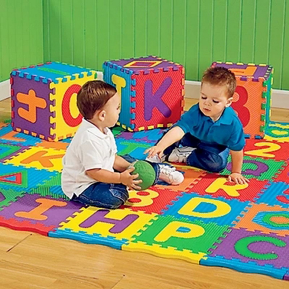 36pcs Colorful Puzzle Kid Educational Toy Alphabet A-Z Letters Numeral Foam Play Mat self-assemble Baby Crawling Pad serveware