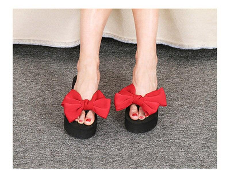 2018 New Flip Flops Fashion Solid Women Shoes EVA Platform Slip on Summer Slipppers Shoes Women Big Bow Decoration Sandals Woman (24)