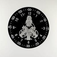 New Double black gear rotary wall clock modern design
