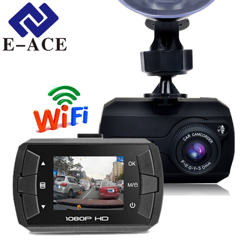 E-ACE 1.5 Inch Mini Wifi Car Dvr Full HD 1080P Car Camera Mirror Rearview Recorder Video Dash Camera Automotive Dash Cam