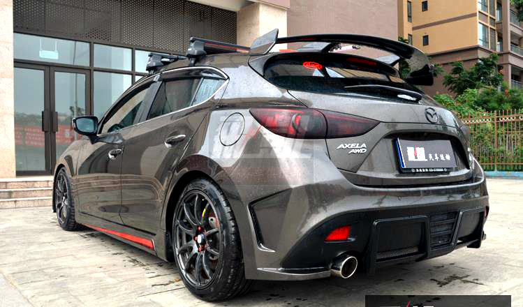 KS Knight Sports style real Carbon Fiber/unpainted FRP Car Roof Spoiler Wing For Mazda 3 Axela 1.5L/2.0L CX-4 CX-5 Hatchback радиаторная решетка knight sports для mazda cx 5 2015 2017