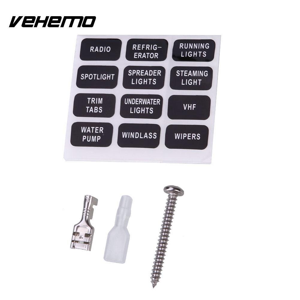 Vehemo Fuse Box 6Way LED Indicator Light Safety PC Wiring Terminal Insurance ABS