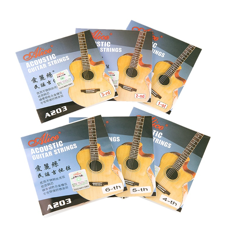 10pcs lot alice a203 1st 2nd 3th 4th 5th 6th acoustic guitar strings super light individual. Black Bedroom Furniture Sets. Home Design Ideas