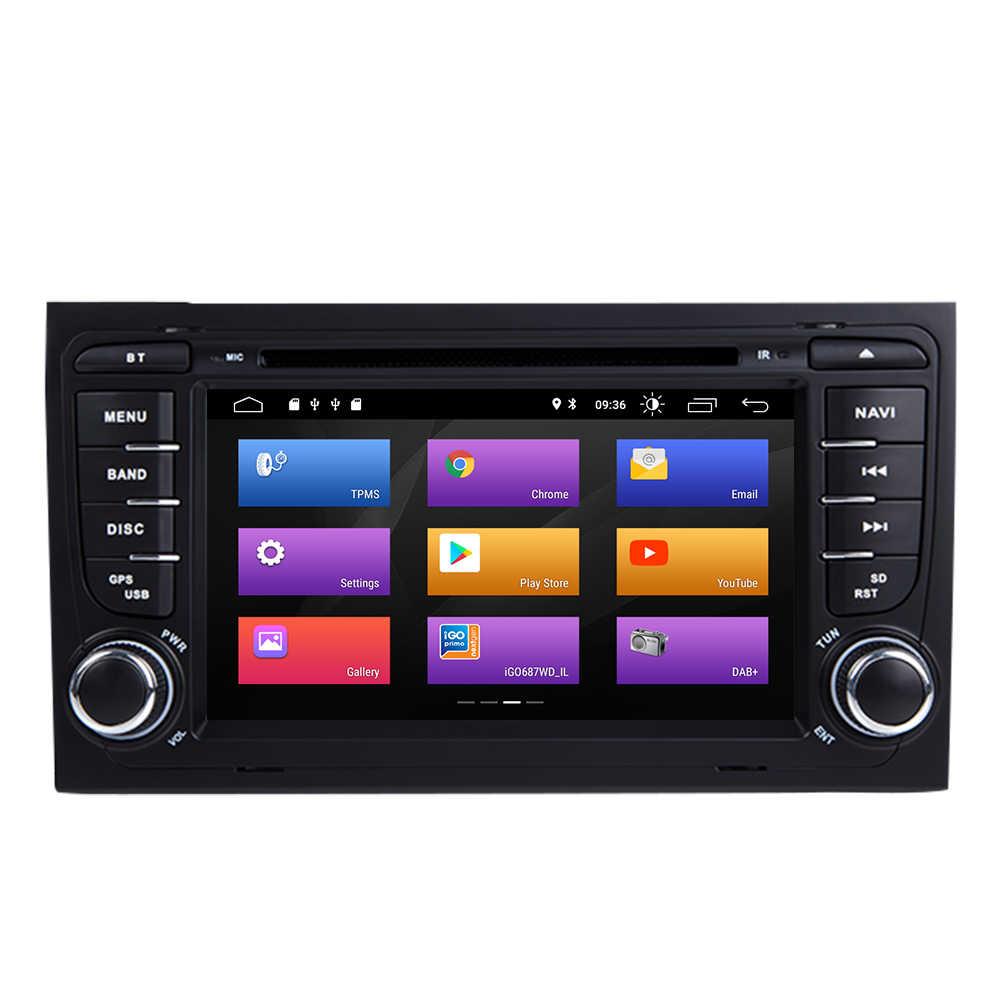 AutoRadio 2 Din アンドロイド 9.0 車の Dvd プレイヤーアウディ A4 B8 S4 B6 B7 RS4 8E 8H B9 シート Exeo 2002-2008 GPS ナビゲーション BluetoothUSB