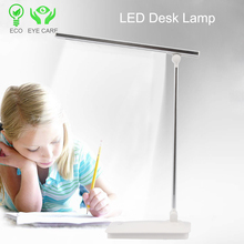 LED Desk Lamp Table 3-Level Dimmer Touch Control Panel Eye-Caring Office Bedroom Light Folding Lamps for Reading