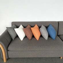 Simple style Home Decorative Lining Linen Square Pillow Sofa Cushion Light Solid color pillow core 50*50CM