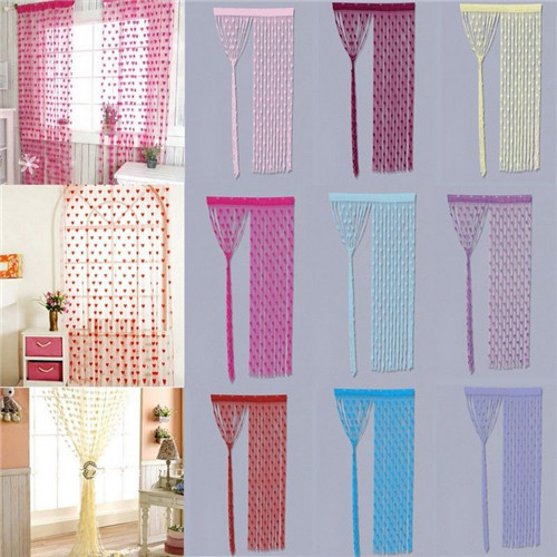 Plain String Heart Curtains Patio Door Divider Fly Windows Net Fringe Home  Room Decor 2M X 1M In Curtains From Home U0026 Garden On Aliexpress.com |  Alibaba ...