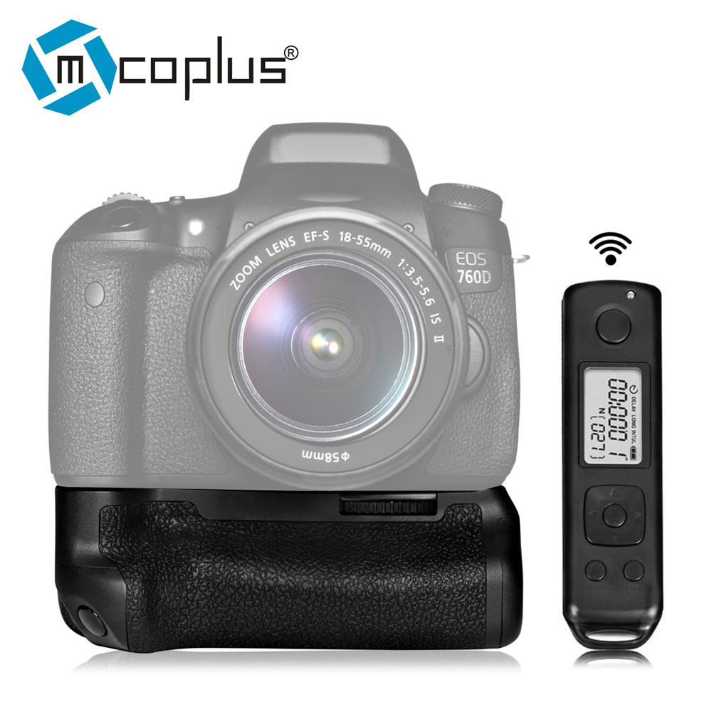 Mcoplus Venidice VD-760D Battery Vertical Grip Built-in 2.4G Wireless Remote Control Pro for Canon 750D 760D as MK--760DR meike mk d500 pro vertical battery grip built in 2 4ghz fsk remote control shooting for nikon d500 camera as mb d17