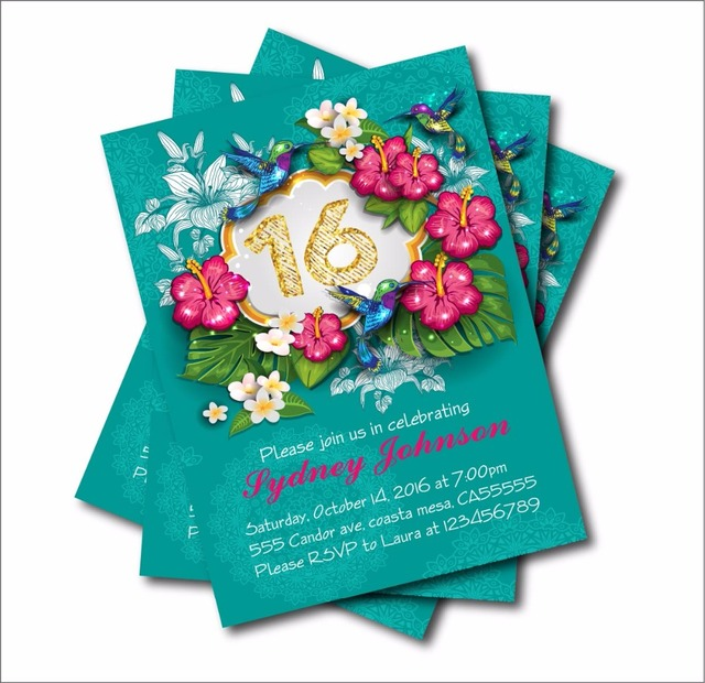 14 Pcs Lot Personalized Sweet 16 Birthday Invitations Adult 30th 40th 50th 60th 70th 80th