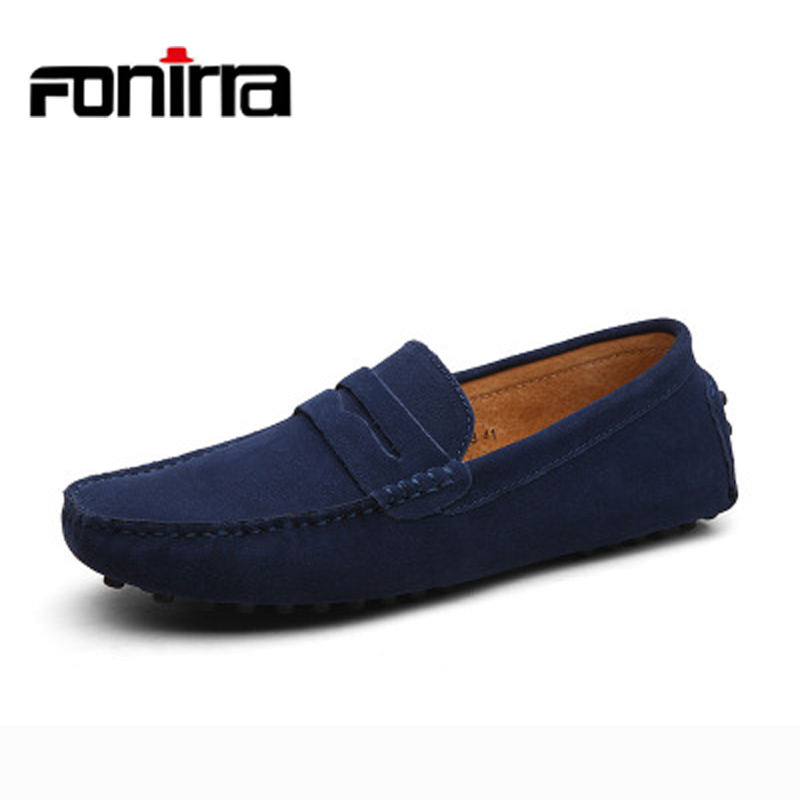 FONIRRA 2017 Men Loafers Genuine Leather Casual Shoes 10 Colors Slip on Men  Flats Chaussure Homme Moccasin Plus Size 38-47 053. 1323.23 руб. 855a087d222c3