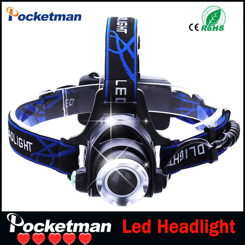 USA EU Hot HP79 Head light Head lamp Cree XM L T6 led 3000LM rechargeable Headlamps