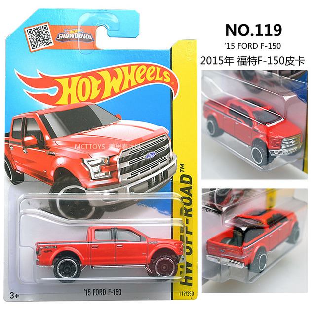 Hot Wheels Ford F Red Truck Metal And Plastic Model Car Kids Classical Vehicle Toys Gift