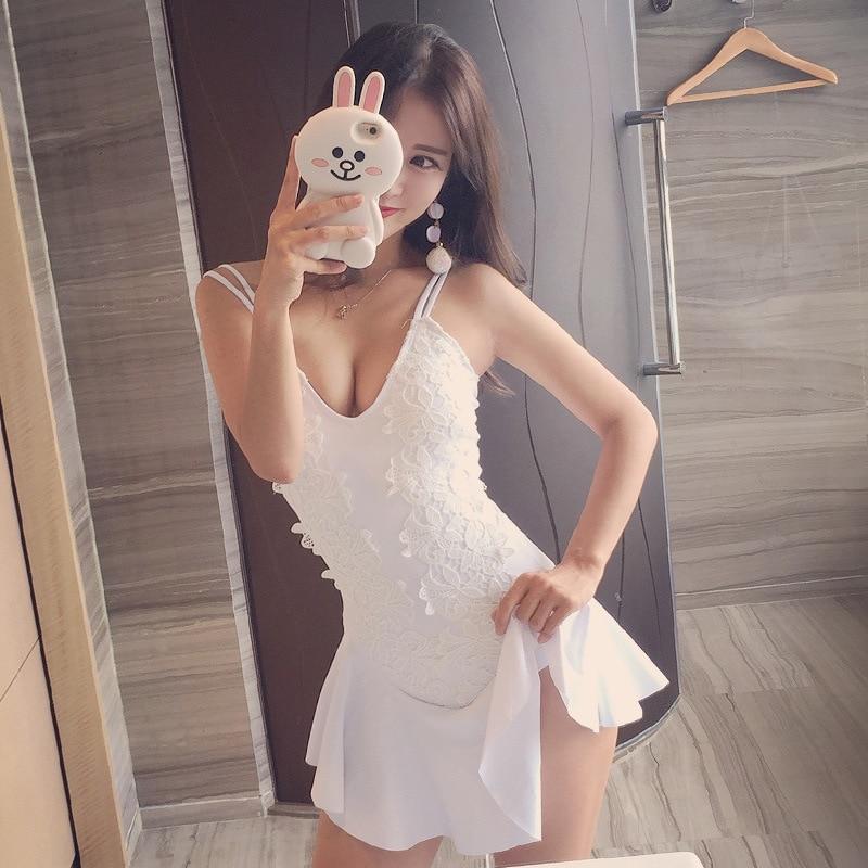 Ladies Bathing Suit Swim Wear Sexy Plus Size Bikinis Woman Push Up Swimwear One Piece Swimsuit 2017 Korea New Skirt Underwire