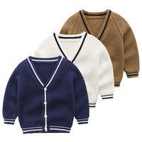 Cute Baby Children Clothing Boys Girls Knitted Cardigan Sweater Kids Spring Autumn Cotton England Style Boy Outer Wear
