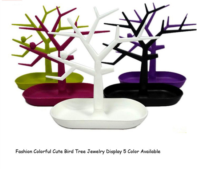 Display Jewelry Organizer Show Rack Necklace Ring Earring Tree Stand Earings