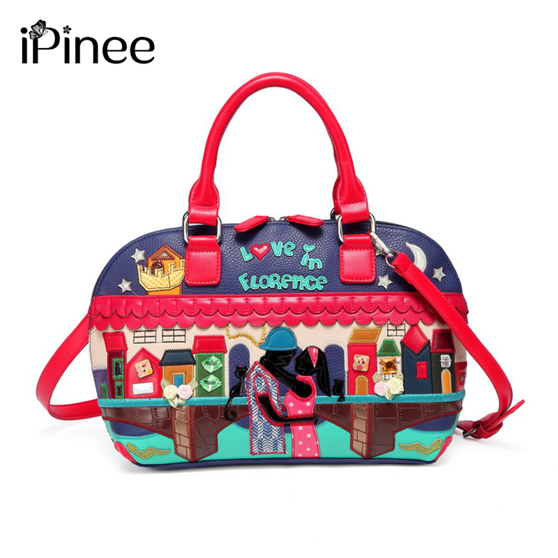 iPinee Popular Luxury Famous Brand Bags For Women PU Leather Handbags High Quality Cross Body Shoulder