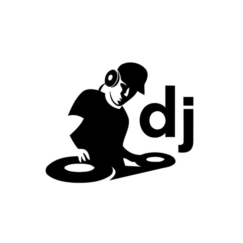 Car Stying DJ Vinyl Sticker Wall Window Car Window Laptop Graphic Deck Music Club Bumper Jdm in Car Stickers from Automobiles Motorcycles