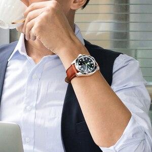 Image 4 - MAIKES bracelet de montre 20mm 22mm 24mm bracelet de montre en cuir véritable veau, accessoires de montre à boucle, en acier inoxydable