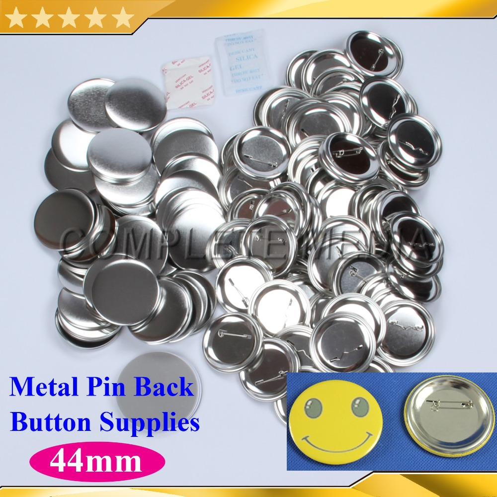 1 3 4 44mm 1 000Sets NEW Professional All Steel Badge Button Maker Pin Back Metal