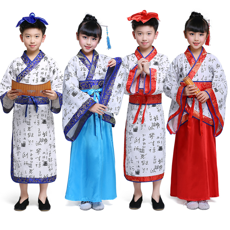 chinese traditional hanfu dress child clothing folk dance girls ancient chinese opera tang dynasty han ming costume children kid