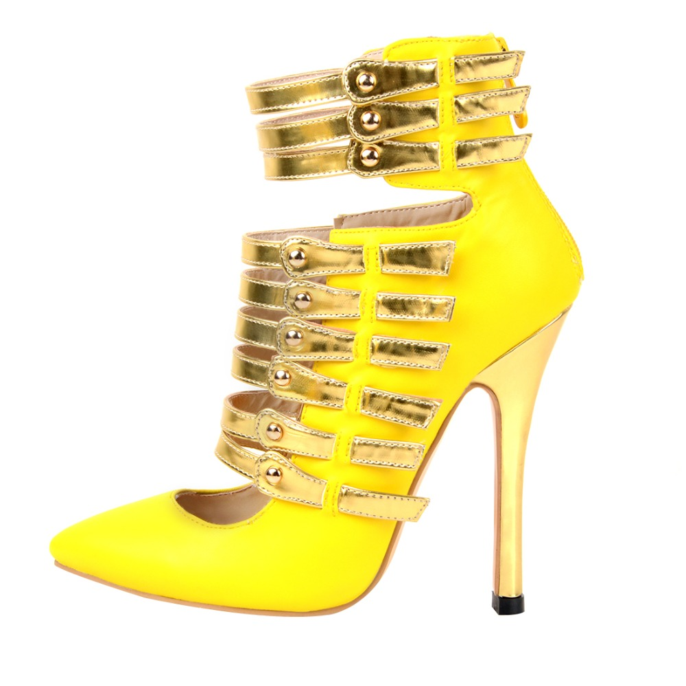 ФОТО 2016 Stylish Women Pumps Sexy Fashion Zip Pointed Toe Thin Heels Shoes Woman Plus Size Can be Customized