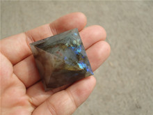 Natural Moonstone natural labradorite pyramid Decoration LA1119