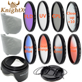 KnightX Close up Lens Filter Kit UV CPL FLD nd 2 4 8 ND8 Kit for canon nikon d3300 d3200 d5200 d5300 d5500 sony 52mm 58mm 67mm