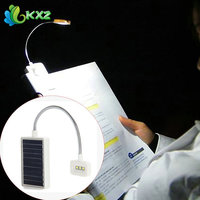 Mini Solar LED Book Light Clip Multi Use Adjustable Led Table Lamp For Music Stand Or