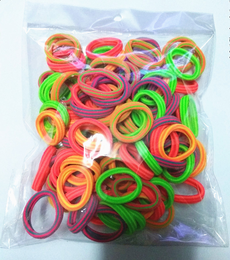 100Pcs/Lot  Children's  Kids Hair Holders Cute Rubber Elastics Hair Bands Girl's Hair Accessories Mini hair rope women's Fashion