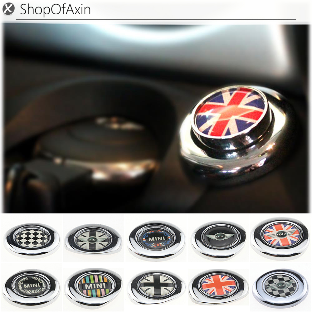 Chrome Engine One Start Stop Push On Cap Cover Decoration For 2ndgen Mini Cooper S Coutryman R55 R56 R57 R58 R59 R61 R60 In Automotive Interior