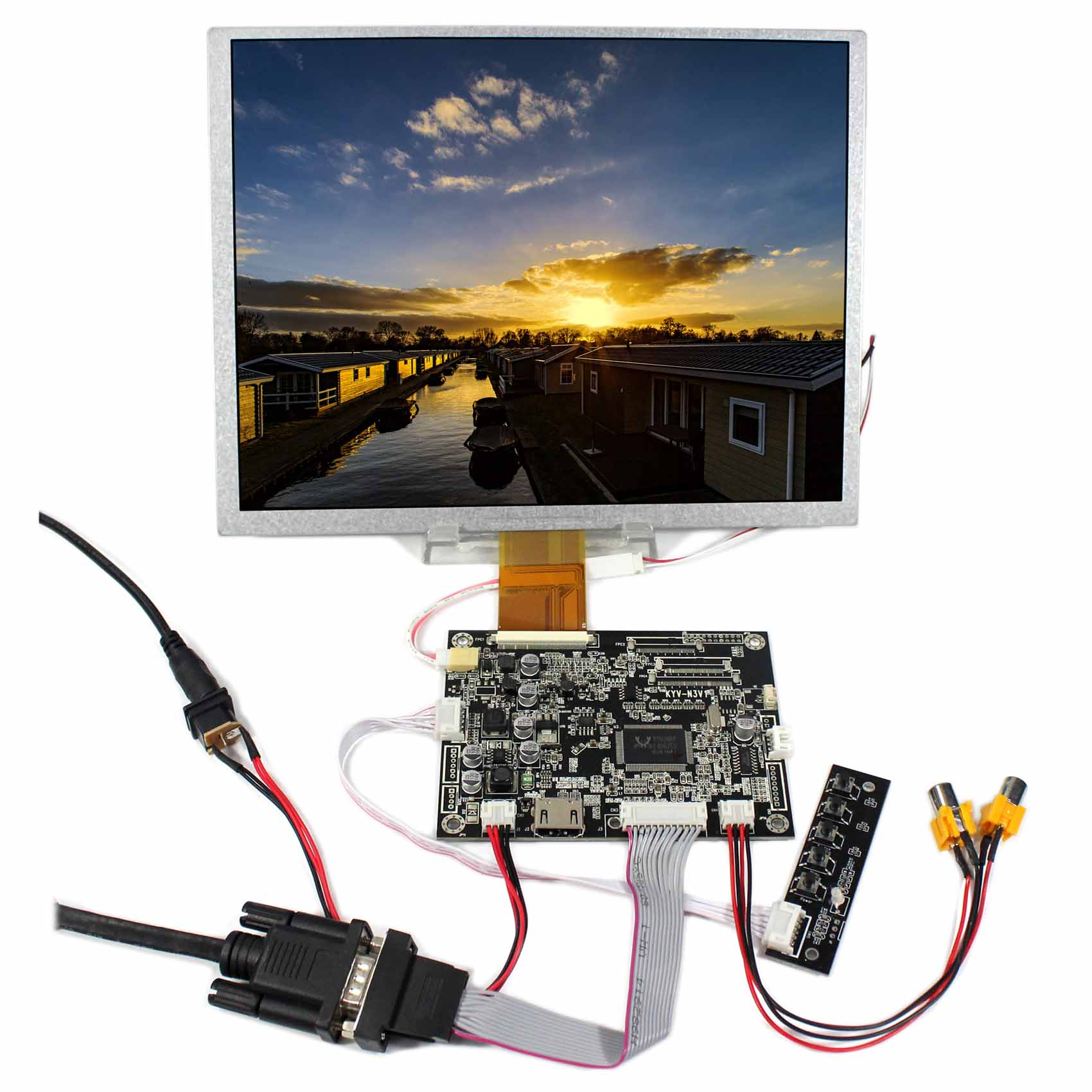 HDMI VGA AV Audio LCD Controller Board KYV-N3 V1 10.4inch LSA40AT9001 800x600 LCD Panel vga av lcd controller board kyv n2 v1 8inch 800x600 ej080na 05b lcd with touch panel