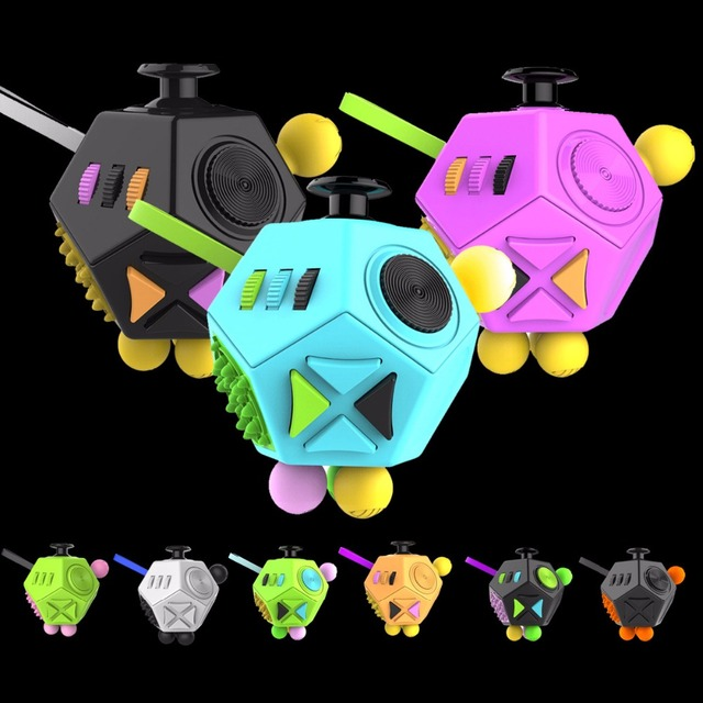 9 Colors Fidget Cube Puzzles Magic Cubes Plastic Office Desk Toys Autism ADHD Gift AntiStress Relieves Stress Anxiety Reliever