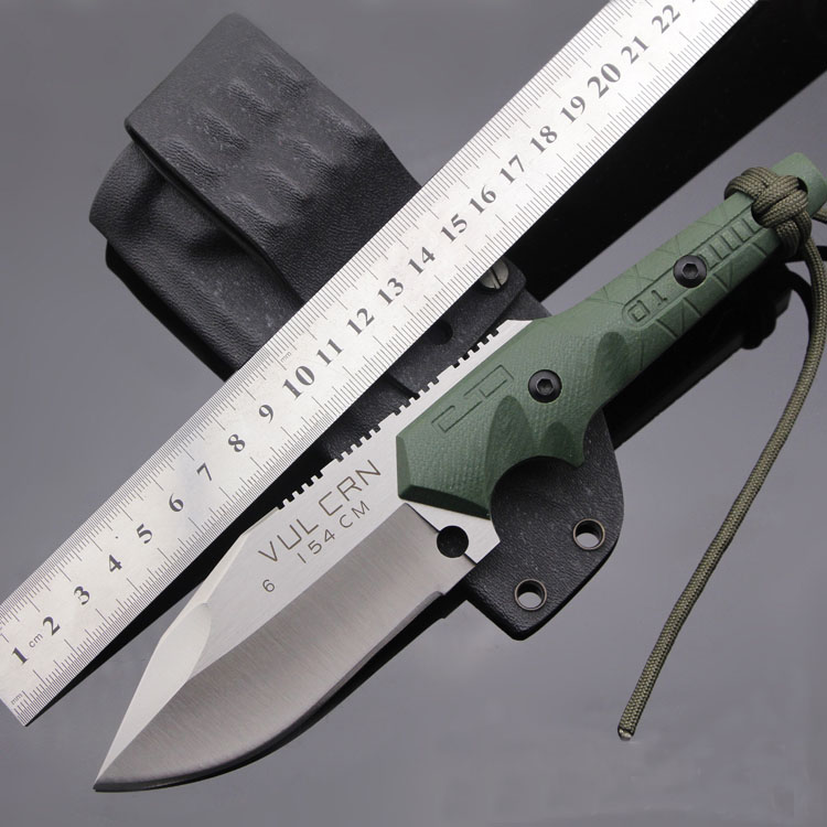 Купить с кэшбэком Vellance Classic Fixed Blade Knife 154CM Blade G10 Handle Outdoor Survival Camping Knife Multi Tactical Hiking Knives EDC Tools