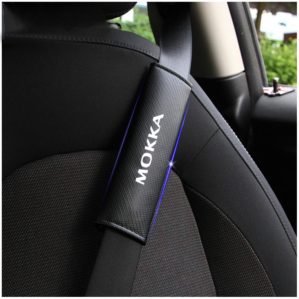 For OPEL MOKKA Reflective Safe Seat Belt Cover Car belt shoulder Pads Styling Auto Parts 2pcs