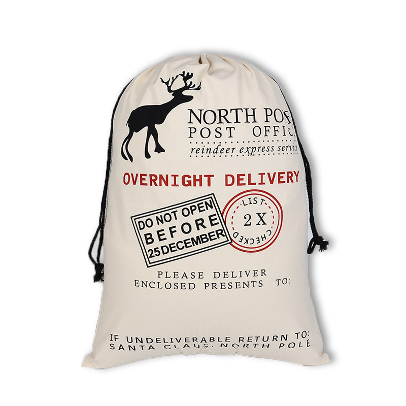 10pcs Customized Bag Christmas Gift Bag Party Gift Bag Reusable Cotton Drawstring Shopping Bag Women Men Travel Tote Storage Bag