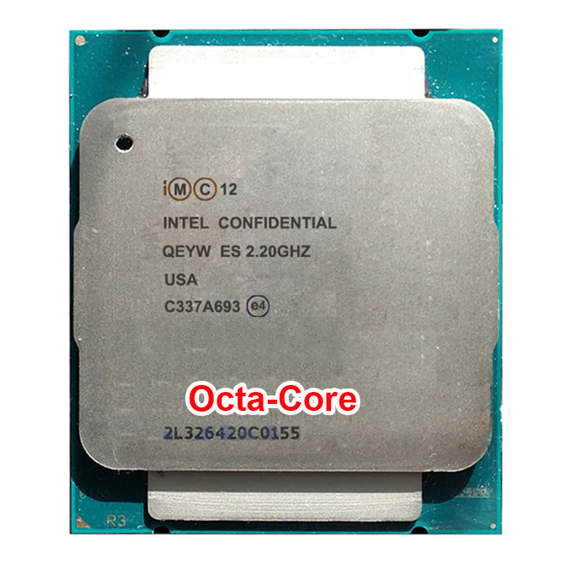 Engineering sample of <font><b>Xeon</b></font> <font><b>E5</b></font>-2630v3 ES QEYW CPU 2.2GHz 8-Core <font><b>E5</b></font> <font><b>V3</b></font> 2630V3 eight octa core octa-core 16 thread PROCESSOR 85W image