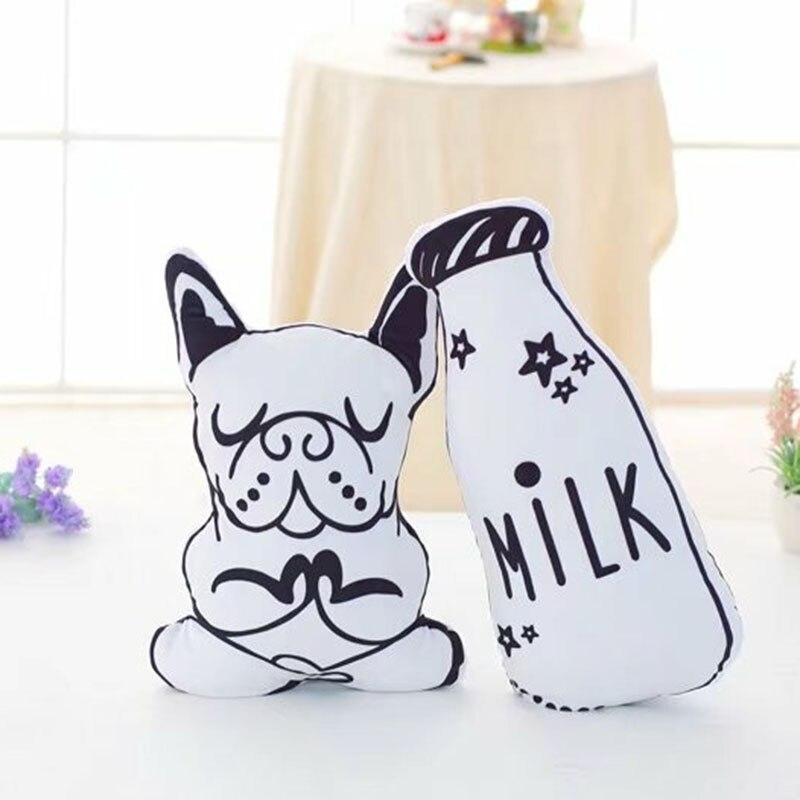 Stuffed e Plush Animais de leite cão almofada de Atenção : Keep Fire Away