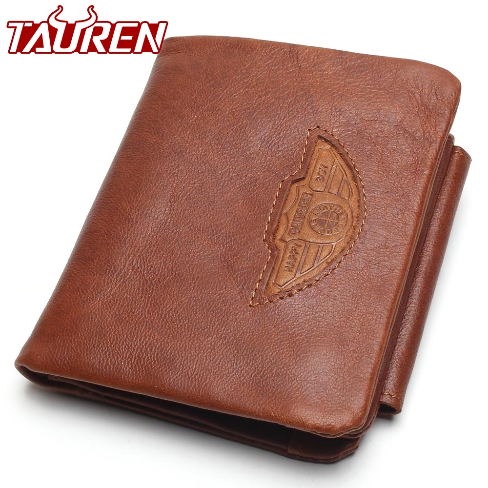 TAUREN Men Wallet 100% Design Men Trifold Wallets Fashion Purse Card Holder Wallet Man Genuine Leather With Zipper Coin Pockets wolf head men wallets genuine leather wallet fashion design brand wallet leather man card holder purse