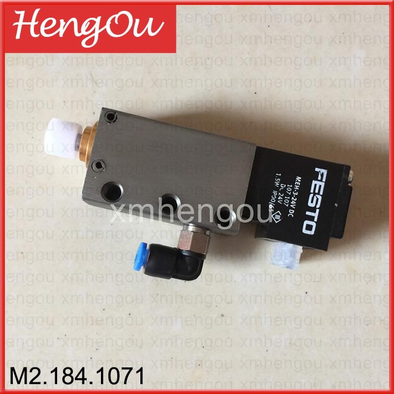 1 piece Heidelberg spare parts M2.184.1071 solenoid valve Pneumatic cylinder hyvst spare parts prime spray valve for spx150 350 1501013