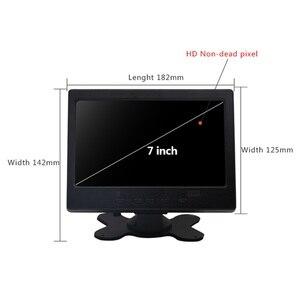 "Image 2 - 7 ""LCD מגע צג עבור פטל Pi HDMI + VGA + AV ממשק תצוגת מגע קיבולי מסך מודול רכב גיבוי הפוך"