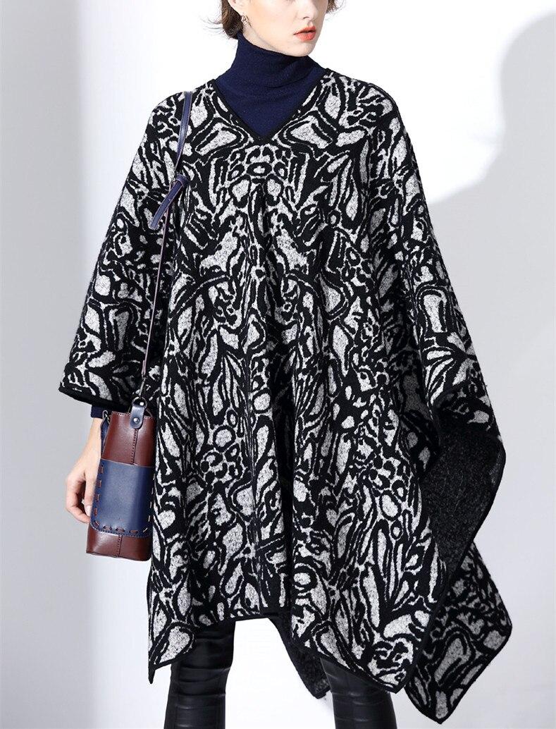 Двухсторонний цвет 100% шерсть женское модное пальто плащ пашмины стиль ассиметричная Длина рукав 3 четверти Один и более размер