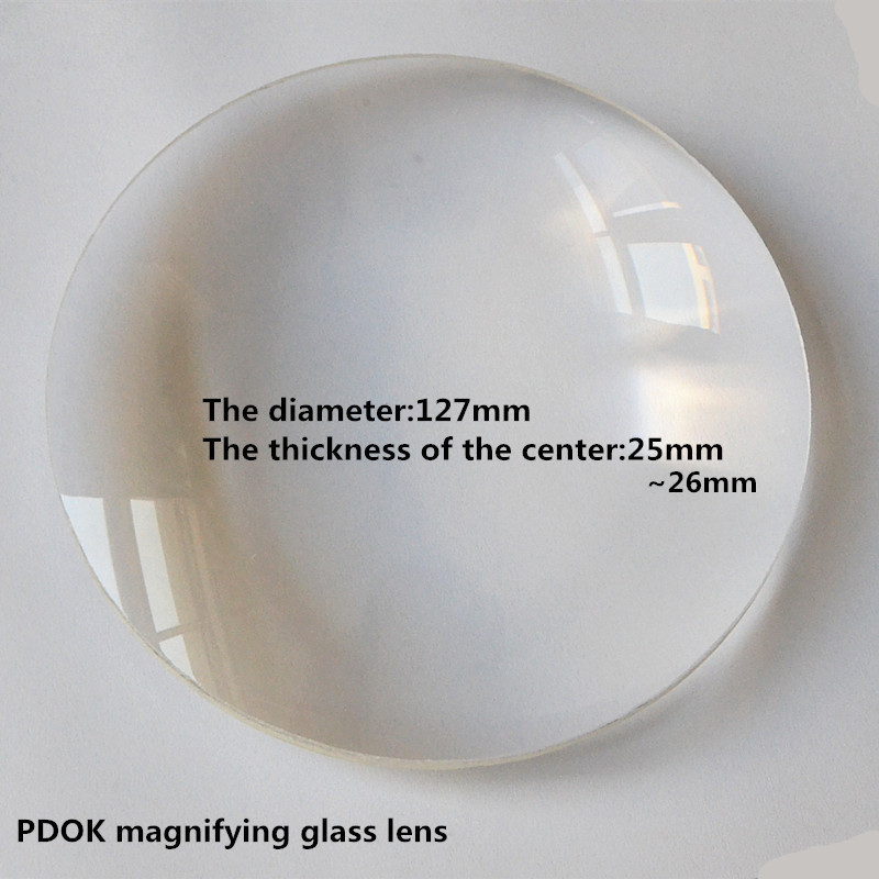 2PC K9L Optical Glass Focal Length Convex Solar Condensing Magnifying Glass Lens