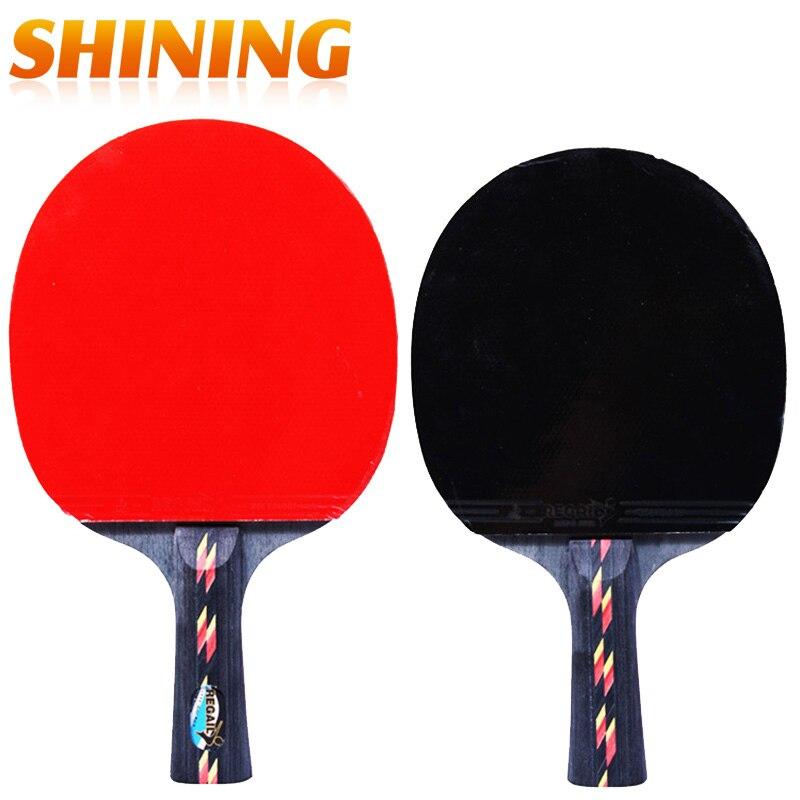 FleißIg Penhold Kurzen Griff Lange Griff Erschütterung Hand Grip Tischtennisschläger Ping Pong Paddel-schläger Pickel In Ping Pong Racket Pouch