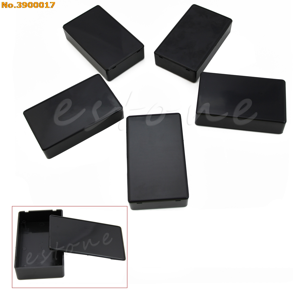 Durable 5Pcs 100x60x25mm DIY Plastic Electronic Project Box Enclosure Instrument Case for Electronic Projects 2018 New