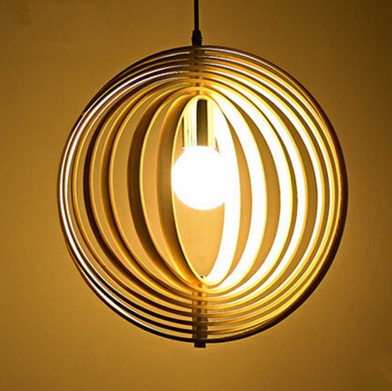 LED Pendant Lights Wood Primary Colors Pendant Lamps for Home Dinning Living Room Lighting Lamp Colgantes Luminaria Pendente 2016 creative design circular frame spherical science fiction elements of led lamps pendant lamps for home dinning room holet