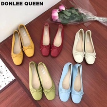 2019 Fashion Candy Color Flats Shoes Women Flat Ballerina Casual Slip On Soft Moccasin Round Toe Shallow Boat Shoe zapatos mujer недорго, оригинальная цена