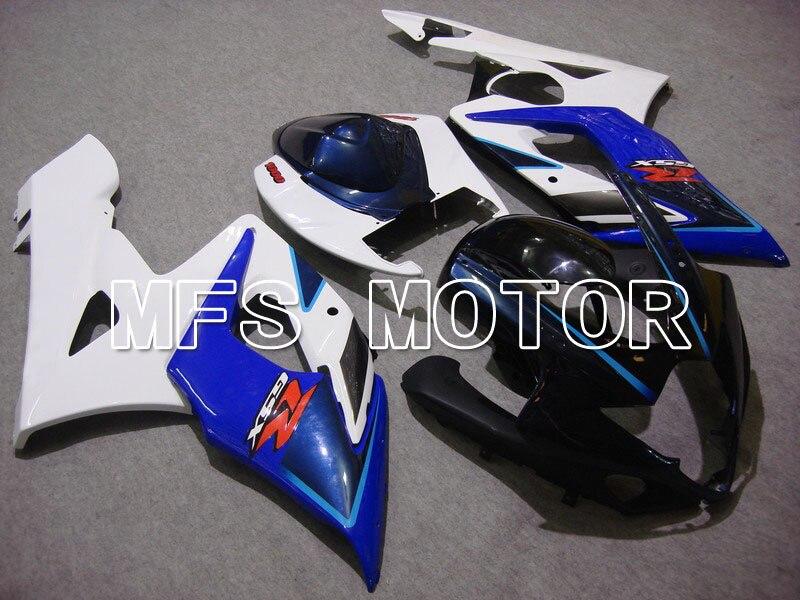 Для Suzuki GSXR 1000 К5 2005 2006 АБС впрыска Обтекателя комплекты GSXR1000 К5 05 06 - другие - белый/синий корпус с синим фары