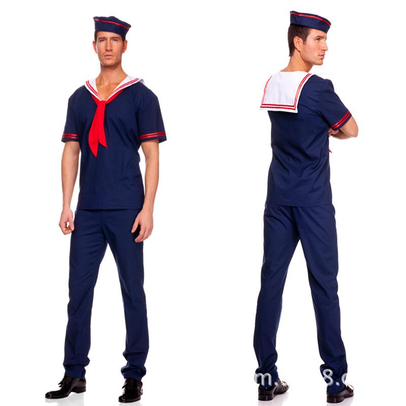 venta caliente traje del carnaval disfraces de halloween capitn de cdigo marinero traje azul marino